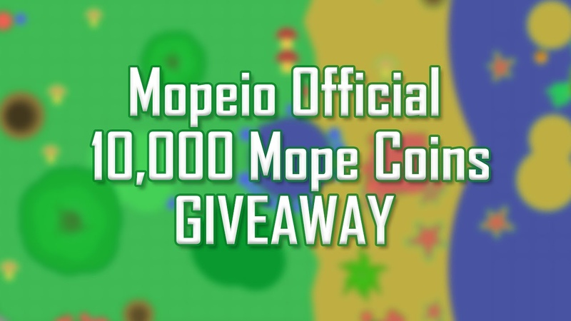 MOPE.IO 10,000 MOPE COINS GIVEAWAY HOW TO PARTICIPATE
