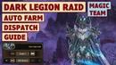 King's Raid Dark Legion Raid Magic Team Auto Farm and Dispatch Battle Guide