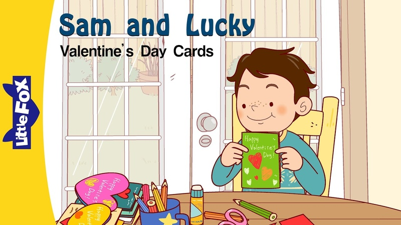 Sam and Lucky Valentine's Day Cards Friendship Little Fox Animated Stories for Kids