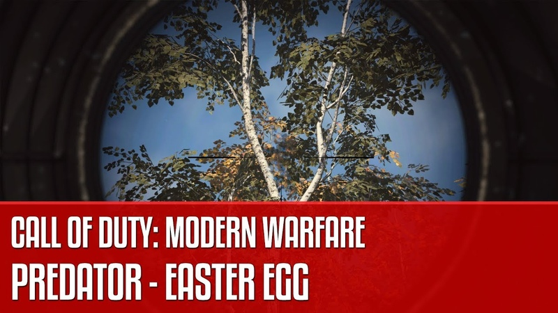 Predator w Call of Duty Modern Warfare - easter egg