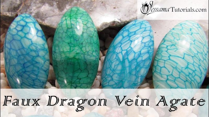 Polymer Clay Faux Technique: Faux Dragon Vein Agate Tutorial