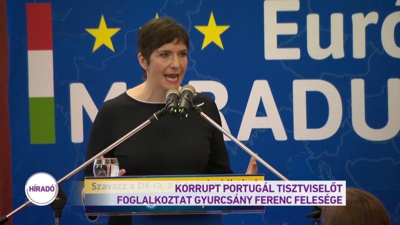 Korrupt portugál tisztviselőt foglalkoztat Gyurcsány Ferenc felesége