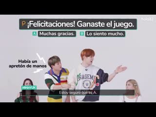 [200619] MONSTA X playing a 'broken phone' in Spanish  hola82