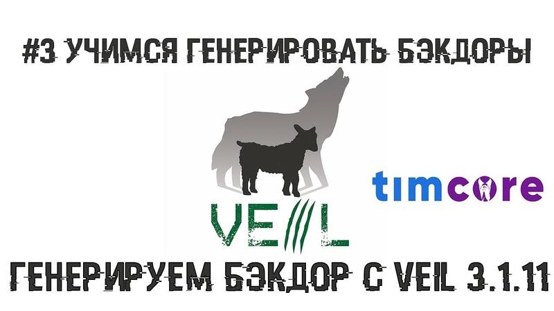 3 Учимся генерировать бэкдоры. Генерируем бэкдор с помощью Veil 3.1.11 | Timcore