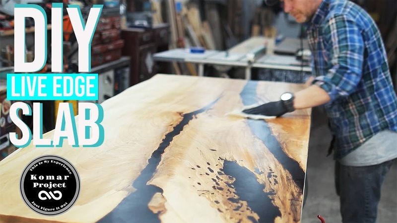 Making a EPOXY River Live Edge Maple Slab Countertop for the Laundry Room