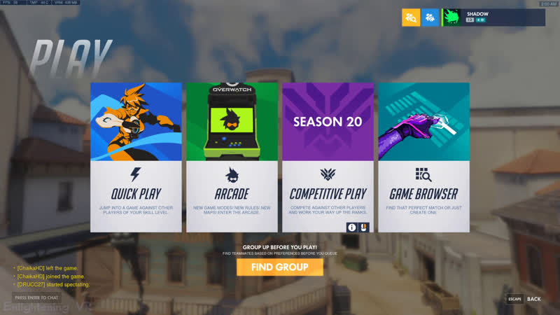 Overwatch Trying to get plat as Supports Competitive NotVR