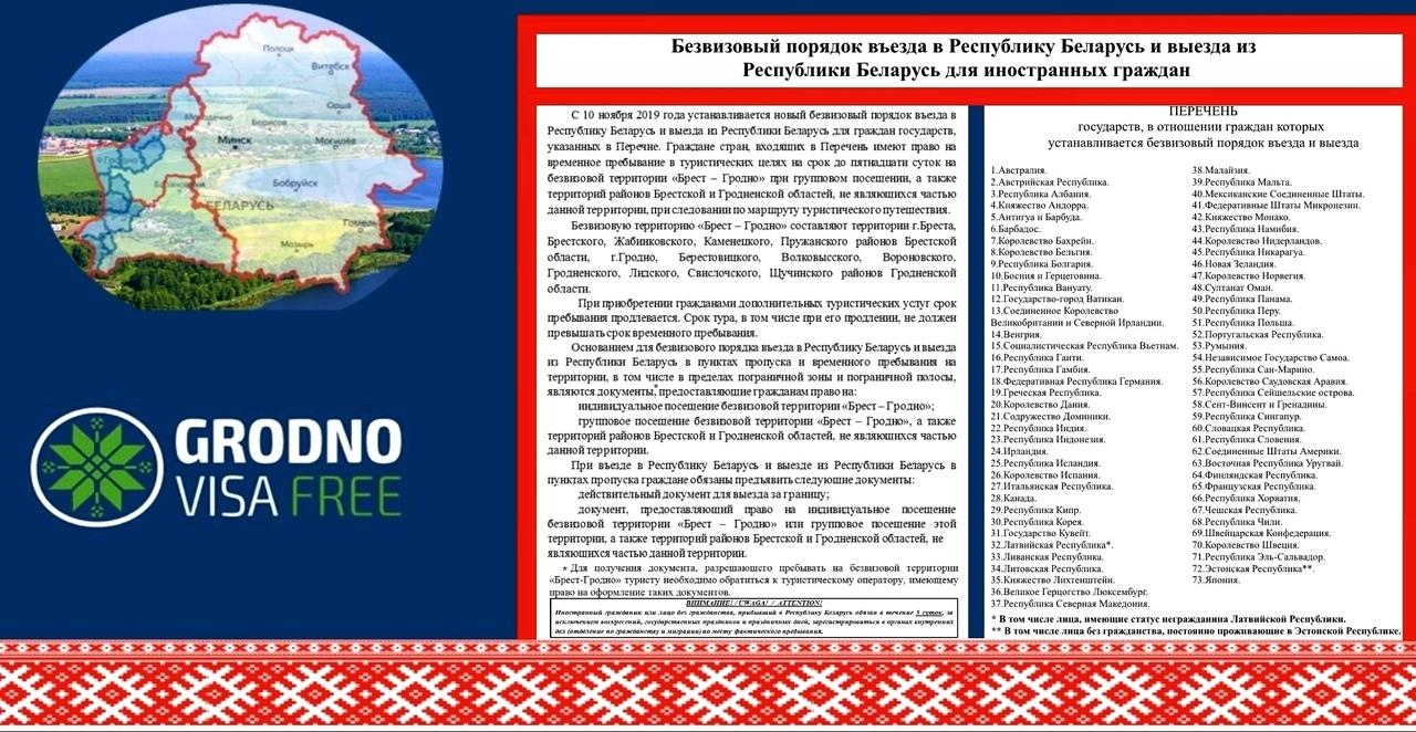 О правилах пребывания иностранных граждан на безвизовой территории «Гродно-Брест»