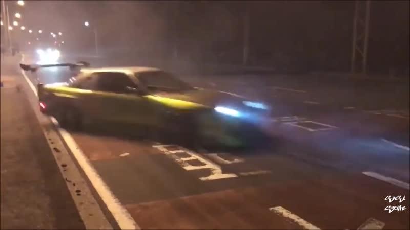 Illegal Japan Street Drift お元気ですか 日本の警察 Drift Family
