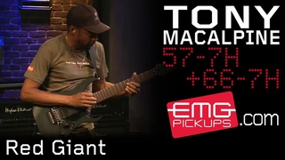 """Tony MacAlpine and band play """"Red Giant"""" live on EMGtv (2015)"""