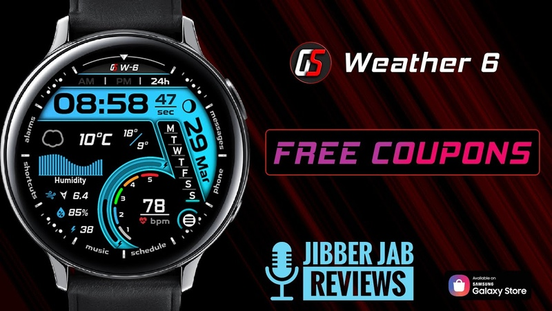 30 Codes to Giveaway! Samsung Galaxy Watch Active 2 Galaxy Watch Face by GS Watchfaces