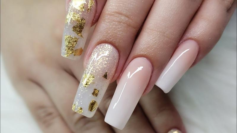 Diseño de uñas acrilicas elegantes 😍😍😍