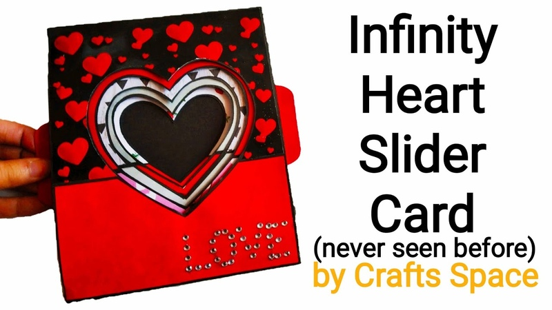 Infinity Heart Slider Card Tutorial l Expandable Heart Card l By Crafts Space