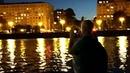 Bukreev Пишу на видео разноцветные огни салюта за домами Фрунзенской набережной Андреевский автодорожный мост Москва река Андрее