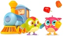Un trem com legumes HopHop a Coruja Desenhos animados para criancas