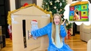 Новый ДОМИК из картона 24 часа в домике БЕДНЫЙ vs БОГАТЫЙ ДОМ ожидание реальность НАША МАША