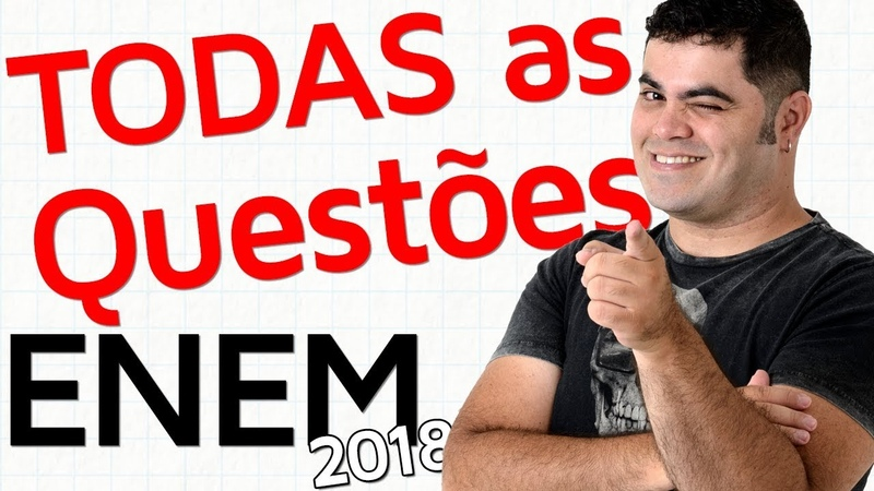 🚨 TODAS AS QUESTÕES DE MATEMÁTICA DO ENEM 2018 RESOLVIDAS Matemática Rio