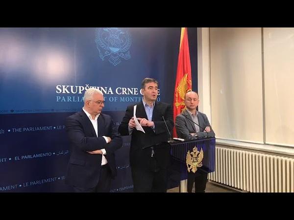 Vanredna konferencija opozicije: Medojević izneo dokaze o velikoj pljački Crne Gore
