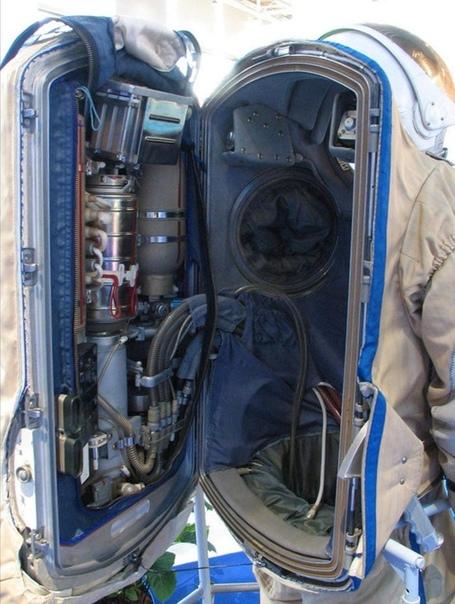 Скафандр космонавта изнутри