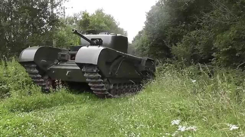 Churchill Tank Mark IV on the move