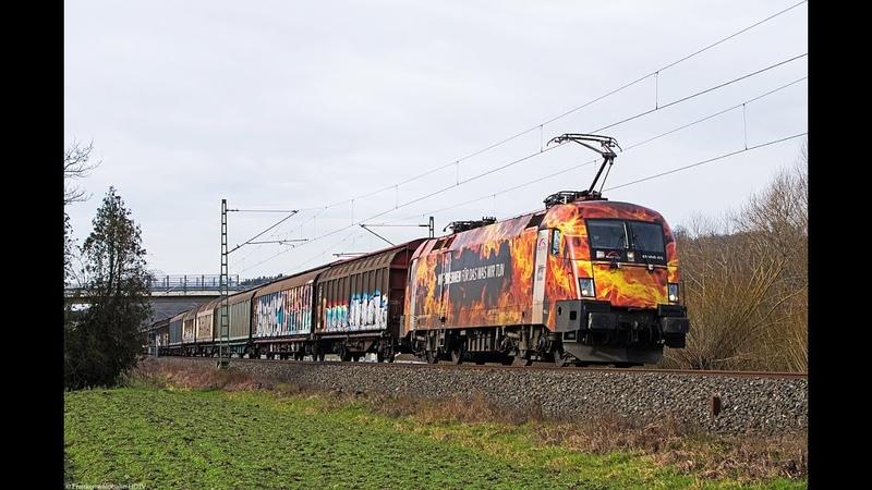 US Army Panzerzug Militärtransport, Feuertaurus, Zementaxi uvm. auf der Frankenwaldbahn Bamberg
