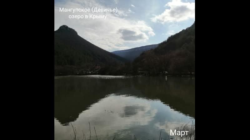 Локация Мангупское озеро в Крыму