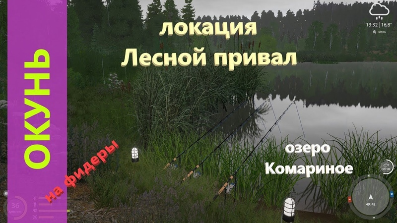 Русская рыбалка 4 озеро Комариное Окунь у камышей