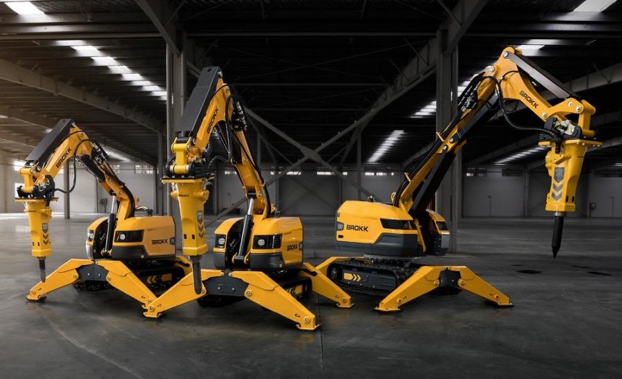 Модельный ряд роботов-разрушителей Brokk