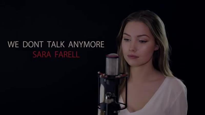 Charlie Puth Selena Gomez - We Dont Talk Anymore (Sara Farell Cover)
