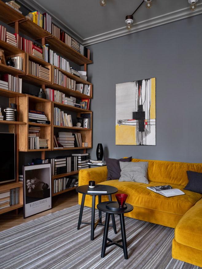 Квартира с историей в Москве, 135 м²