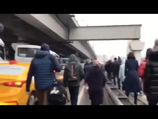 Утренний коллапс в московском районе Ховрино.
