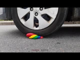 Интересное видео №256 - experiment__car_vs_balloons