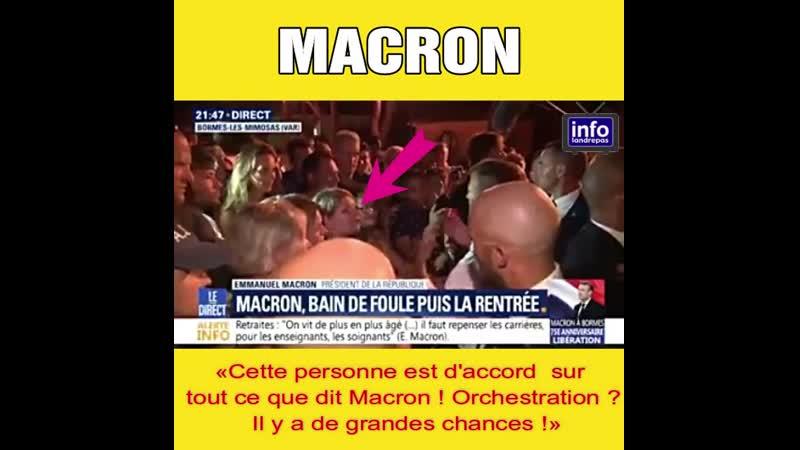 Macron et la durée du temps de travail Trouvez l'astuce pour mieux faire passer la pilule devant une caméra...