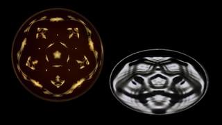 Замедленная съемка звуковых волн на жидкости   Cymatics harmony
