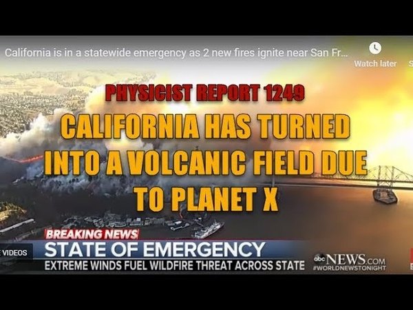 1249: California has turned into a volcanic field due to Planet X