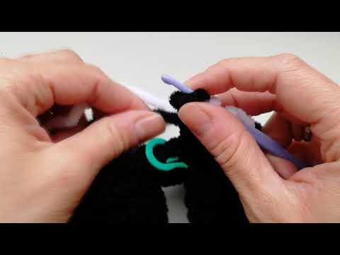 Смена нити при вязании крючком видеоурок для начинающих