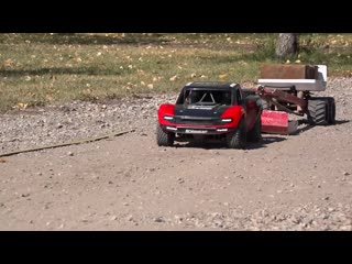 TRAXXAS UDR PULLS the JUDGE! Weight Sled - 30 FT Tractor Pull - RC ADVENTURES RC models