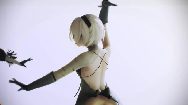 MMD Ray 2B 純情スカートJunjou skirt NieR Automata