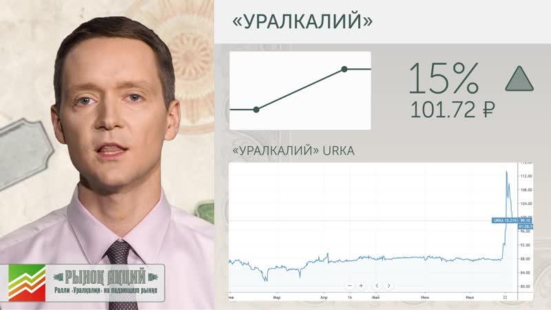 Рынок акций: ралли «Уралкалия» на падающем рынке