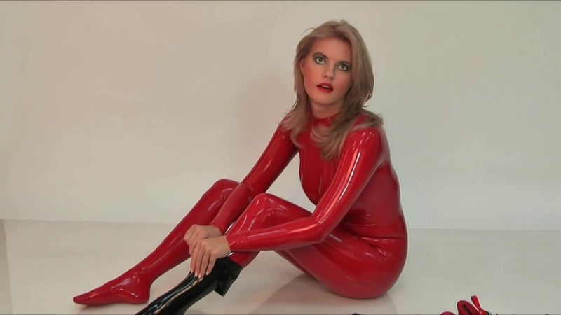 Latex Veronica (Red Skin Tight Latex Outfit