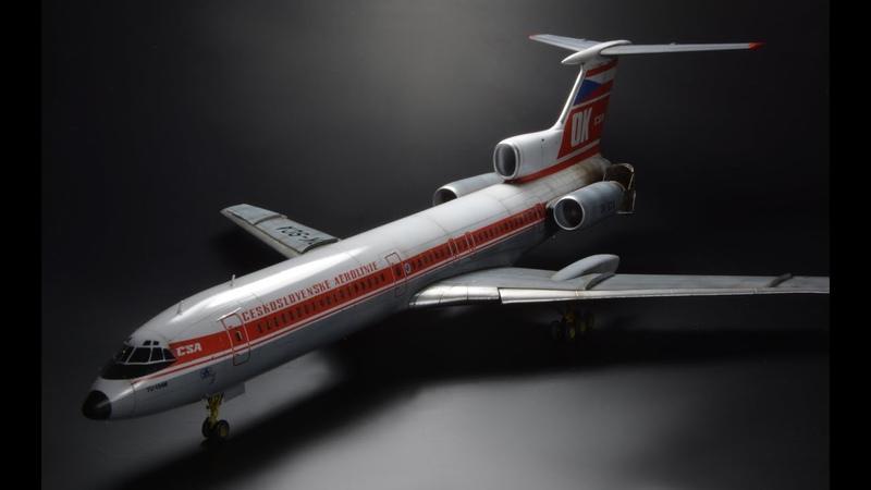 Tupolev Tu 154M ČSA Zvezda 1 144 Airliner Model
