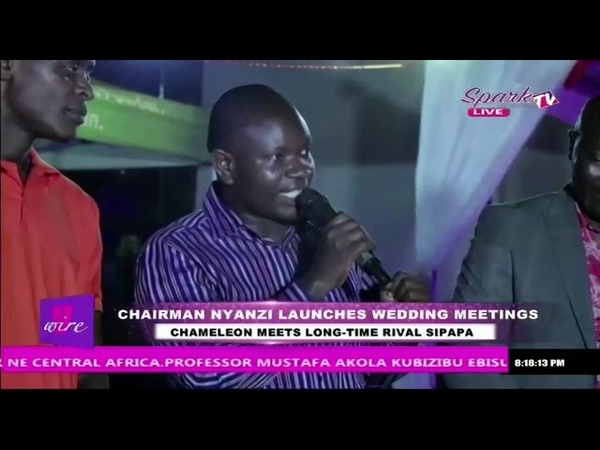 Chameleon Meets Long Time Rival Sipapa At Chairman Nyanzi's Wedding Meetings