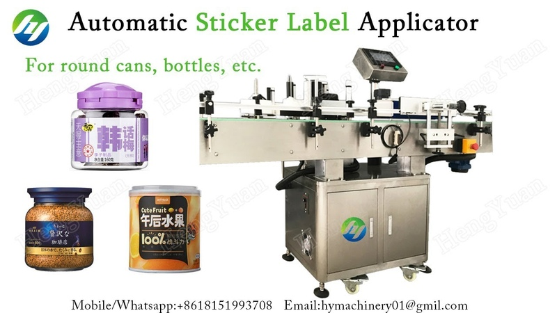Automatic Round Glass Jar Labeler for Fruit Can Label Applicator