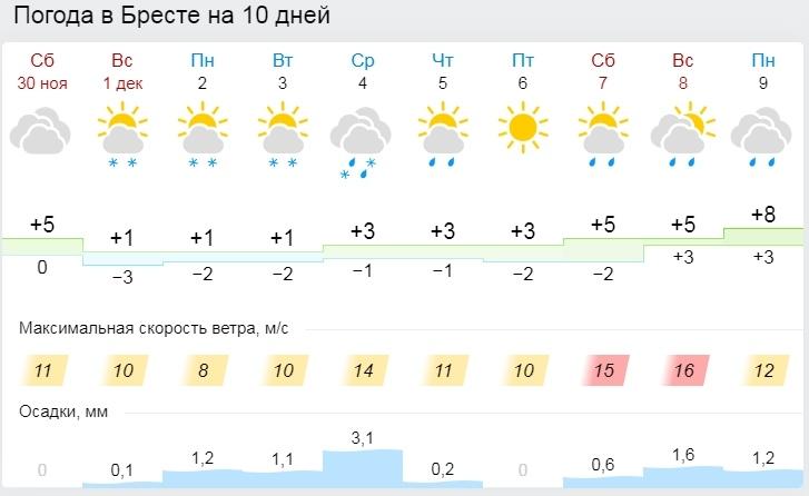 Туман, гололедица и до -7°С ожидается в Беларуси 1 декабря