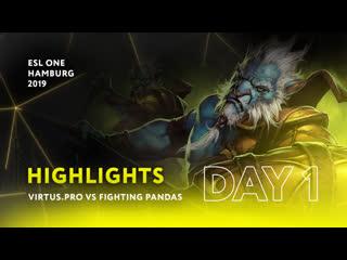 vs fighting pandas   day 1   highlights esl one hamburg 2019
