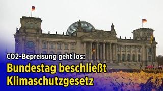 CO2-Bepreisung geht los: Bundestag beschließt Klimaschutzgesetz (Debatte in 4 Minuten)
