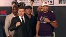 Canelo Alvarez vs Sergey Kovalev Face Off For First Time At Launch Press Conference