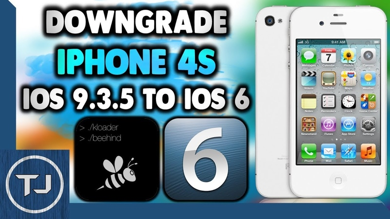 Downgrade iPhone 4S iOS 9 3 5 To iOS 6 1 3 Easy 2017
