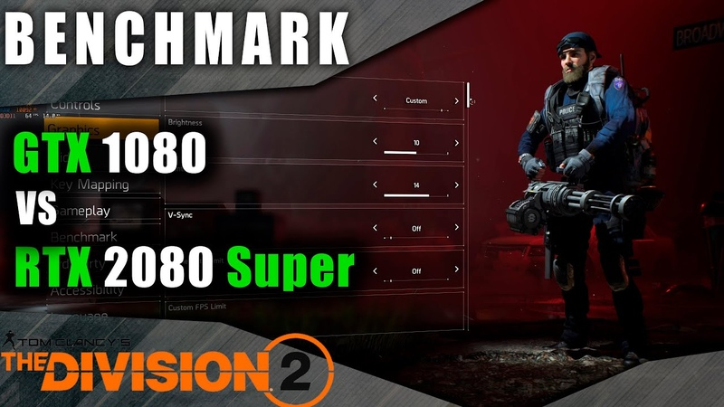 Benchmark 1080 vs 2080 super Tom Clancy's The Division 2 Ultra settings dx11 dx12