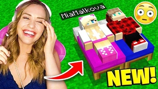Did he REALLY put his minecraft BED next to mine Mia Malkova