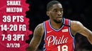 Shake Milton shines bright with career high in 76ers vs Clippers 2019 20 NBA Highlights